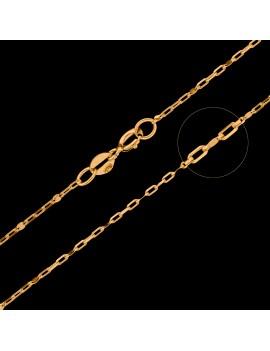 Złoty MODNY Łańcuszek pr585 ŁĄCZONA BLASZKA 45cm