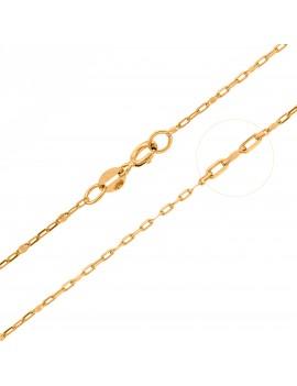 Złoty Łańcuszek 45cm Łączona Blaszka Grawer