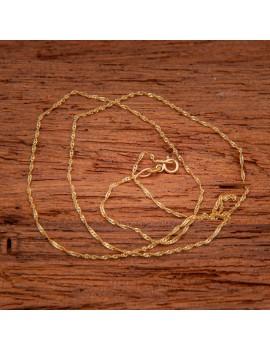 Złoty Łańcuszek 45cm Kręcony Splot