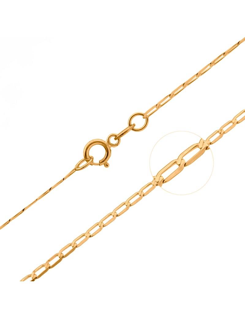 Złoty Łańcuszek 45cm Pancerka Grawer