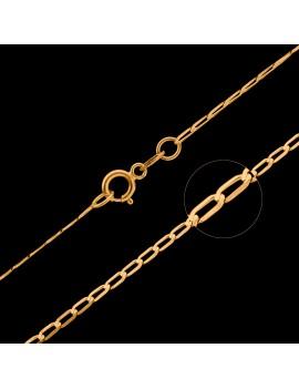 Złoty Łańcuszek 50cm Pancerka Grawer
