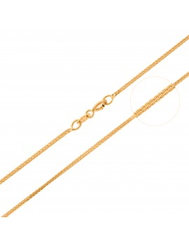 Złoty Łańcuszek 45cm Kostka...