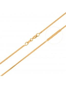 Złoty Łańcuszek 50cm Kostka...