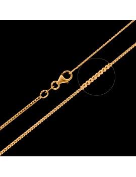 Złoty Łańcuszek 45cm Pełna Pancerka Grawer