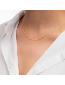 Złoty Łańcuszek 50cm Klasyczny Splot Uniseks