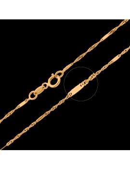 Złoty Łańcuszek 45cm Kręcony Z Blaszką Grawer
