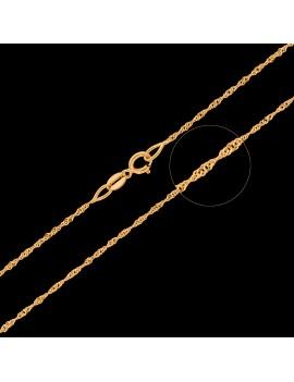 Złoty Łańcuszek 42cm Kręcony Klasyk Grawer