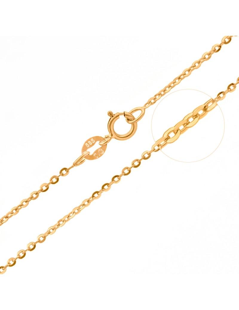 Złoty Łańcuszek 45cm Ankier Z Białym Złotem