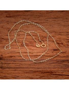 Złoty Łańcuszek pr585 PIĘKNY z BIAŁYM ZŁOTEM 45cm