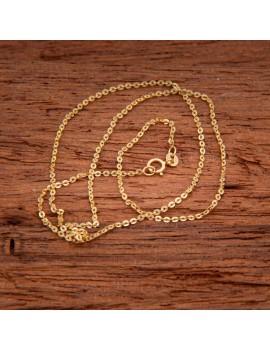 Złoty Łańcuszek 45cm Mocny Splot Grawer