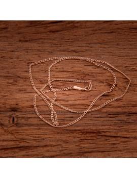 Złoty Łańcuszek 50cm Pancerka Różowe Złoto