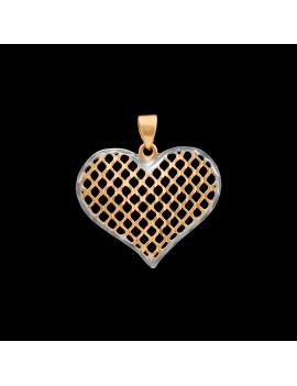 Złoty Wisiorek pr333 PIĘKNE SERCE na PREZENT
