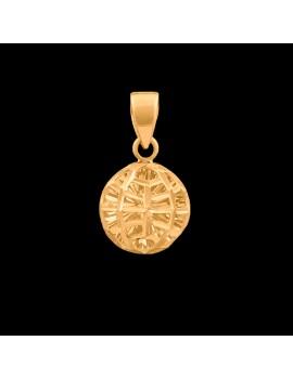 Złoty Oryginalny Okrągły Wisiorek