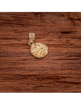 Złoty ORYGINALNY OKRĄGŁY Wisiorek pr333 na PREZENT