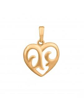 Złoty Wisiorek Delikatne Serce