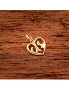 Złoty Wisiorek pr333 DELIKATNE SERCE na PREZENT