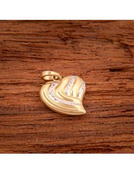 Złoty DWUSTRONNY Wisiorek pr333 SERCE Białe Złoto