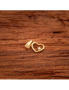 Złoty Wisiorek Delikatne Serce Z Cyrkonią
