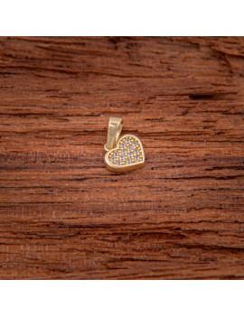 Złoty Wisiorek Klasyczne Serce Z Cyrkoniami