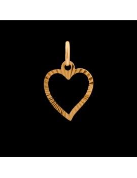 Złoty Dwustronny Wisiorek Subtelne Serce