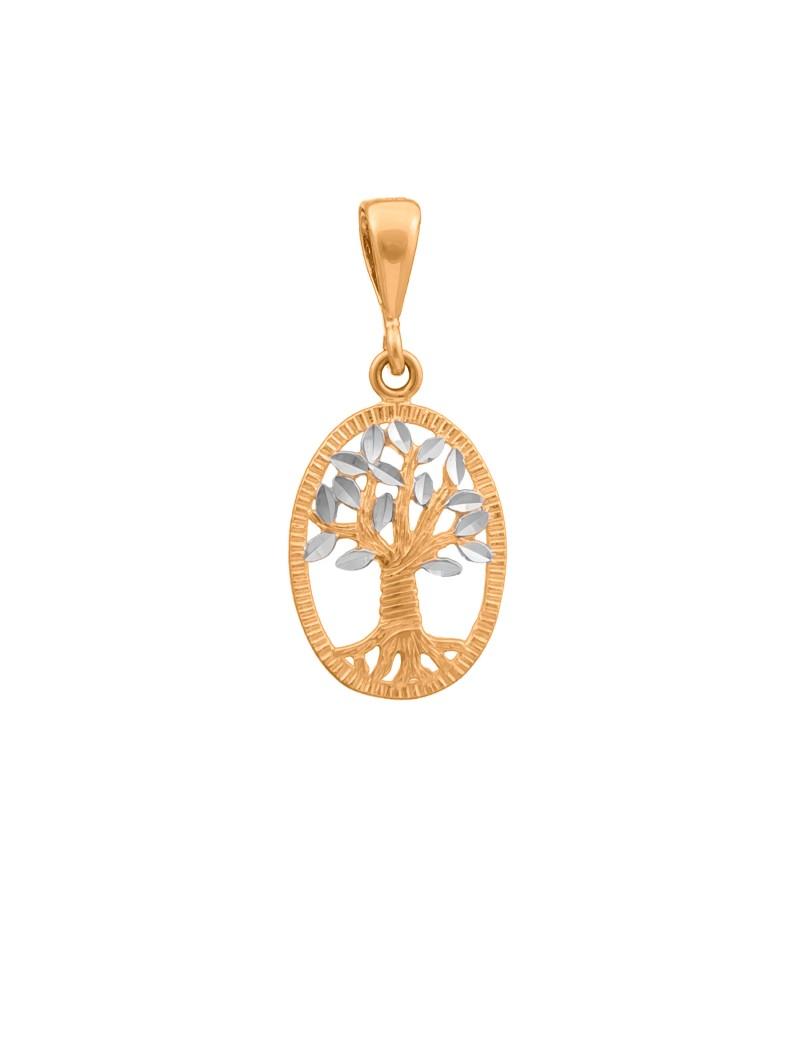Złoty Wisiorek Drzewo Życia Białe Złoto
