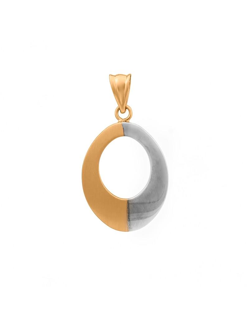 Złoty OWALNY ORYGINALNY DWUSTRONNY Wisiorek pr585