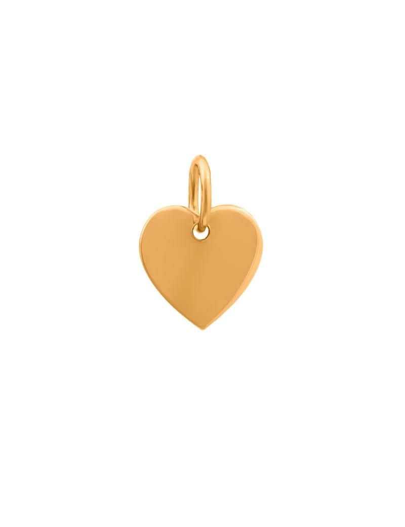 Złoty Wisiorek Klasyczne Serce Grawer