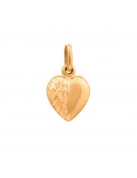 Złoty Wisiorek Nacinane Serce