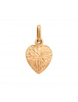 Złoty Wisiorek Piękne Nacinane Serce