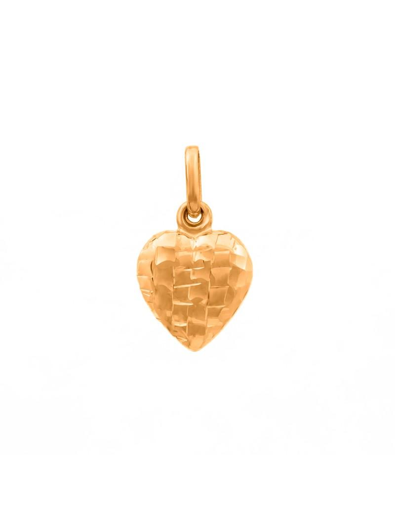 Złoty Wisiorek Piękne Oryginalne Serce