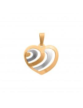 Złoty Wisiorek Piękne Serce Białe Złoto