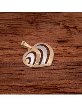 Złoty Wisiorek 585 PIĘKNE SERCE Białe Złoto