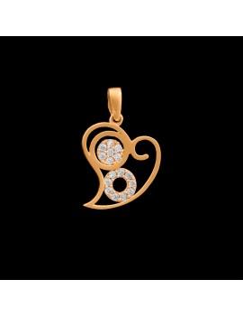 Złoty Wisiorek pr585 PIĘKNE SERCE CYRKONIE