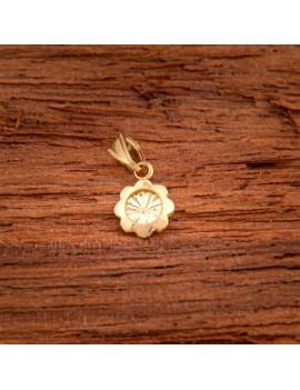 Złoty Wisiorek Nacinany Kwiatek