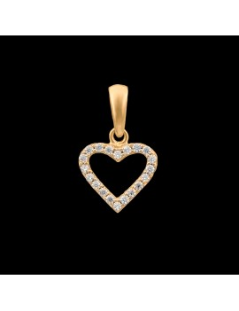 Złoty Wisiorek pr585 PIĘKNE DWUSTRONNE SERCE