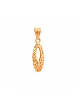 Złoty Owalny Ażurowy Wisiorek