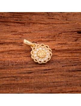 Złoty Wisiorek Kwiat Cyrkonia