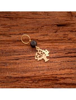 Złoty Wisiorek Drzewo Życia Czarna Cyrkonia