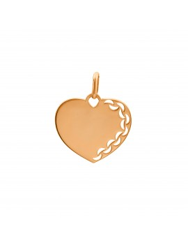 Złoty Wisiorek Duże Serce...