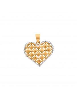 Złoty Wisiorek Serce Białe...