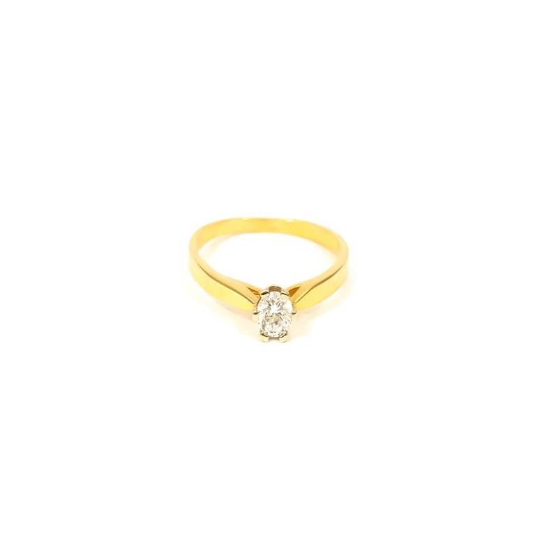 Złoty Pierścionek Klasyczne Zaręczyny r15