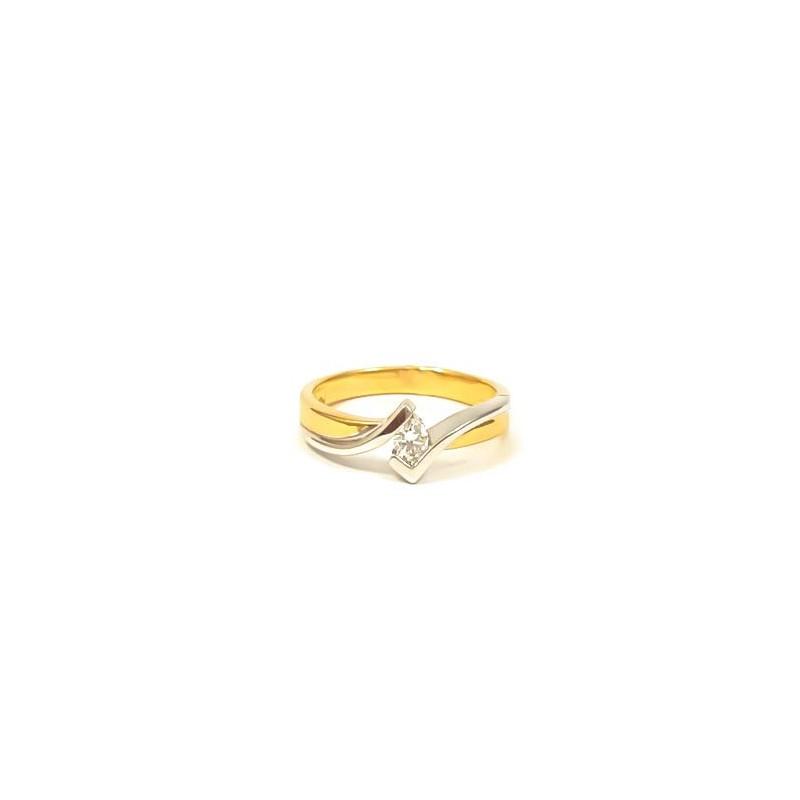 Złoty Pierścionek pr585 IDEALNY na ZARĘCZYNY r15