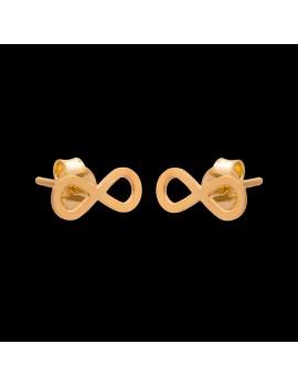 Złote Kolczyki Sztyfty Nieskończoność