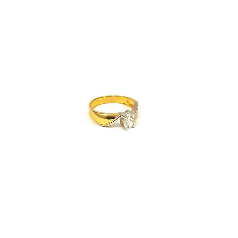 Złoty Pierścionek Białe Złoto Zaręczyny r13