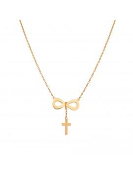 Złoty Naszyjnik Krzyżyk...