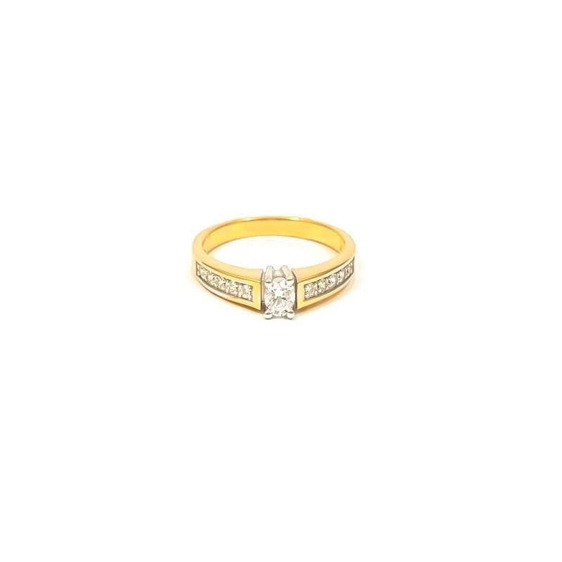 Złoty Pierścionek Zaręczynowy r11