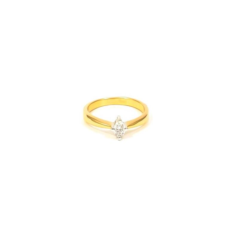 Złoty Pierścionek 585 KLASYCZNE ZARĘCZYNY r15