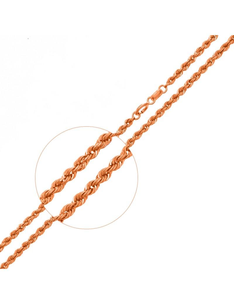 Złoty Łańcuszek Wirówka 50cm Różowe Złoto