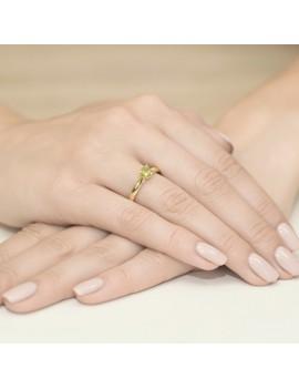 Złoty Pierścionek Oliwin Brylanty Białe Złoto