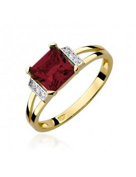 Złoty Pierścionek Granat...